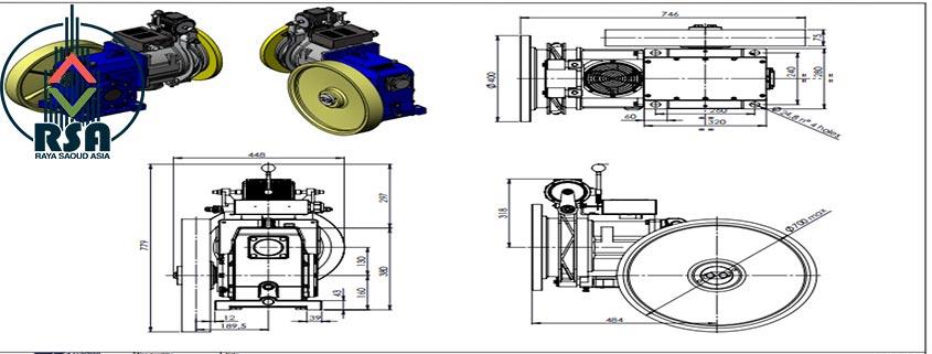 موتور آسانسور ساسی 11 کیلووات