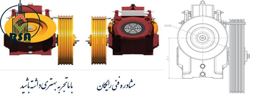 موتور گیربکس آسانسور بهران 3vf 6/1