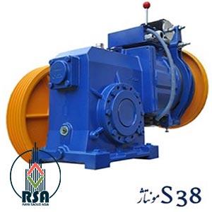 موتور آسانسور ساسی مونتاژ S38
