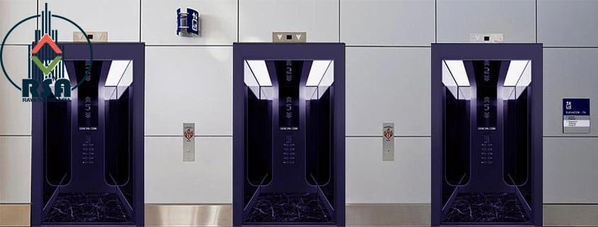 کابین آسانسور استیل کد3507