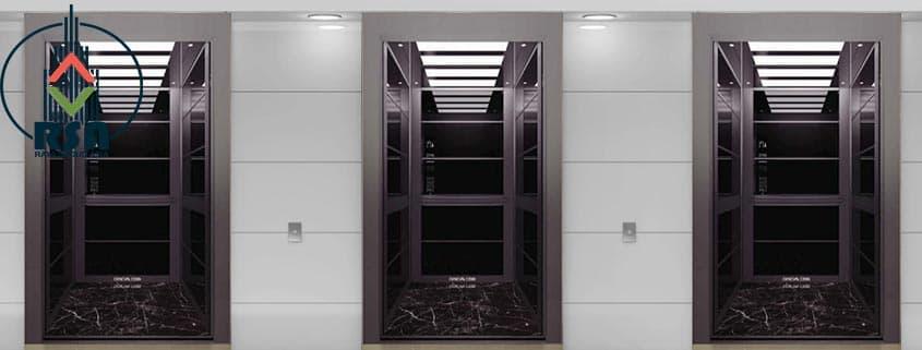 کابین آسانسور استیل کد3509